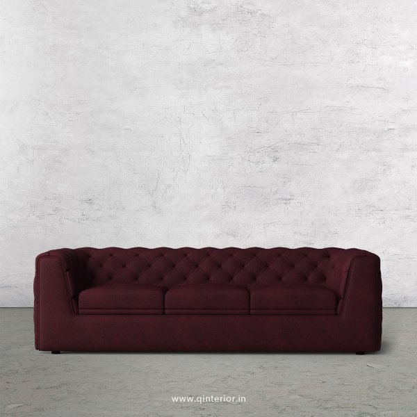 ERGO 3 Seater Sofa in Fab Leather Fabric - SFA009 FL12