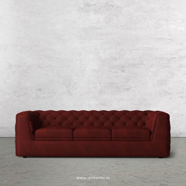 ERGO 3 Seater Sofa in Fab Leather Fabric - SFA009 FL08
