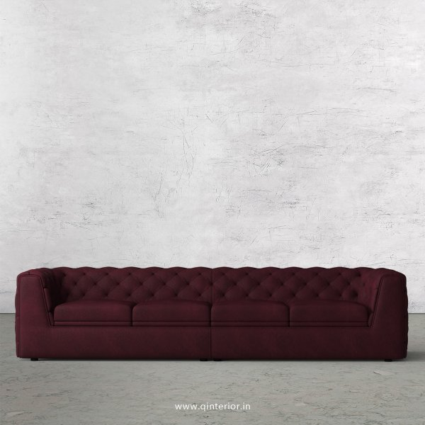 ERGO 4 Seater Sofa in Fab Leather Fabric - SFA009 FL12