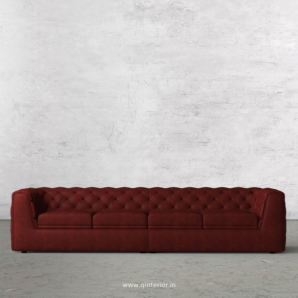ERGO 4 Seater Sofa in Fab Leather Fabric - SFA009 FL17
