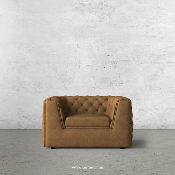 ERGO 1 Seater Sofa in Fab Leather Fabric - SFA009 FL02