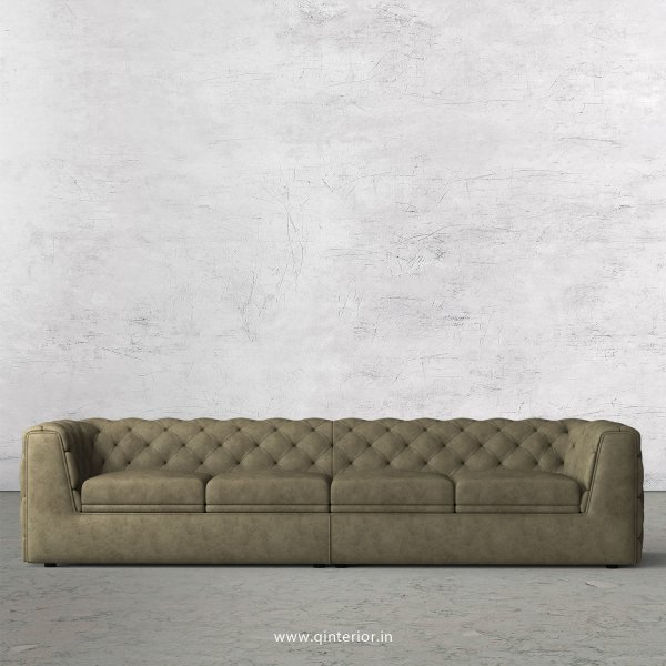 ERGO 4 Seater Sofa in Fab Leather Fabric - SFA009 FL03