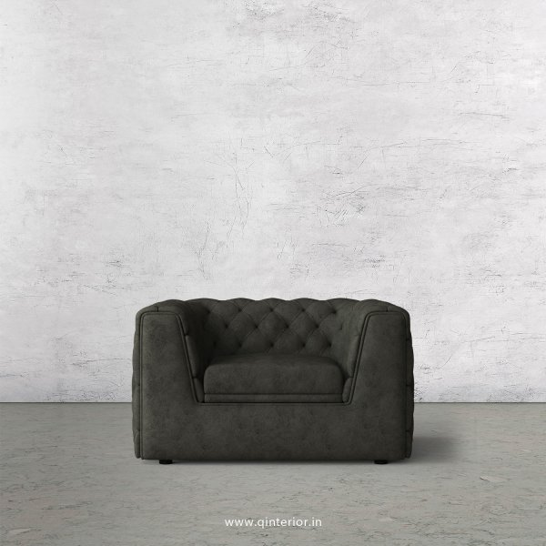 ERGO 1 Seater Sofa in Fab Leather Fabric - SFA009 FL07