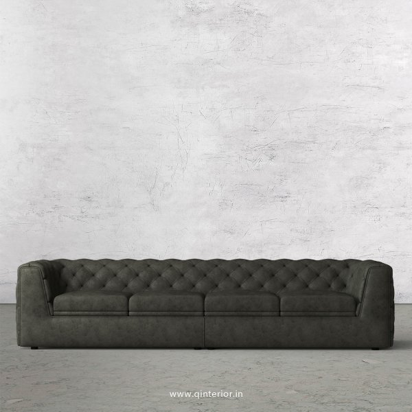 ERGO 4 Seater Sofa in Fab Leather Fabric - SFA009 FL07