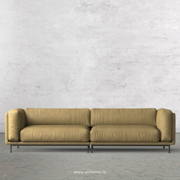 Estro 4 Seater Sofa in Fab Leather Fabric - SFA007 FL01