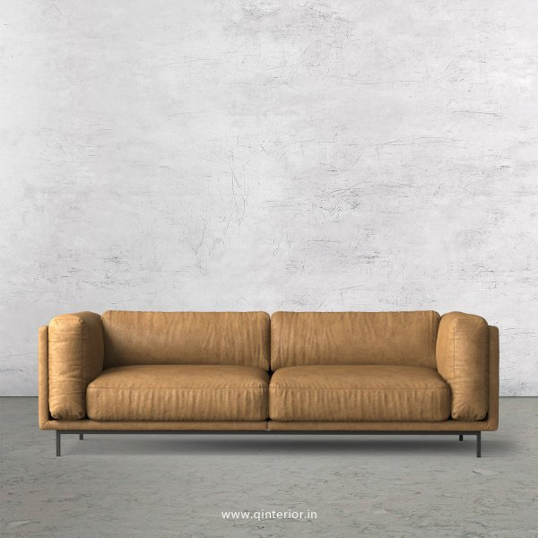 Estro 3 Seater Sofa in Fab Leather Fabric - SFA007 FL02