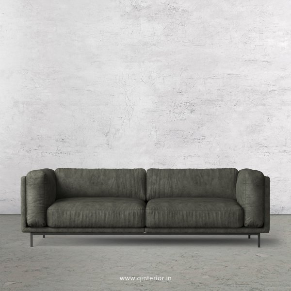 Estro 3 Seater Sofa in Fab Leather Fabric - SFA007 FL07