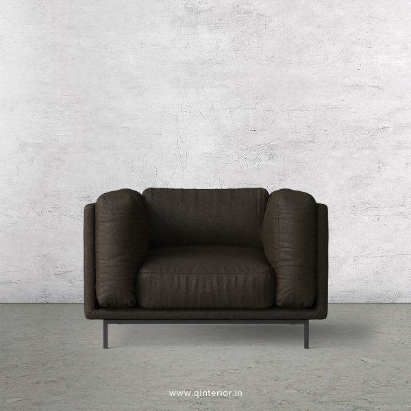 Estro 1 Seater Sofa in Fab Leather Fabric - SFA007 FL11
