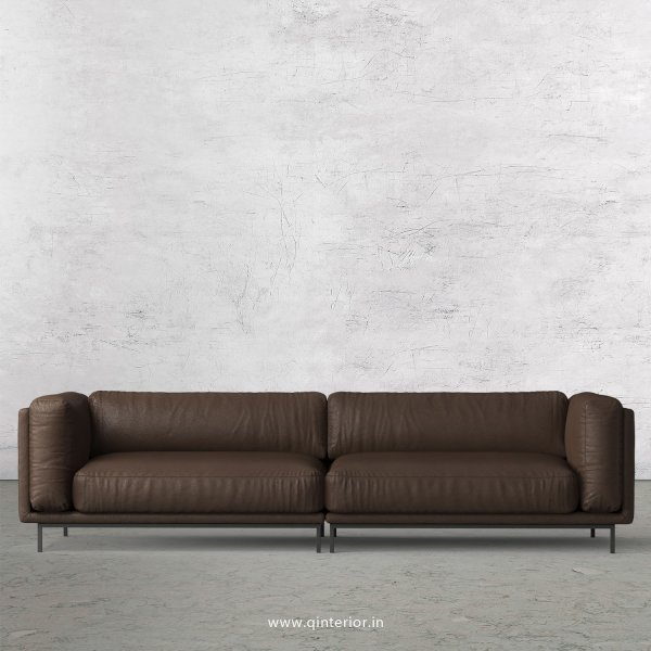 Estro 4 Seater Sofa in Fab Leather Fabric - SFA007 FL16