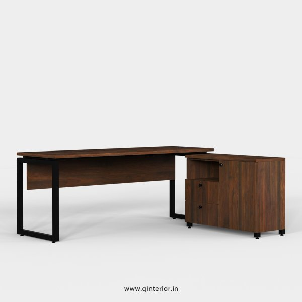Aaron Executive Table in Walnut Finish - OET117 C1