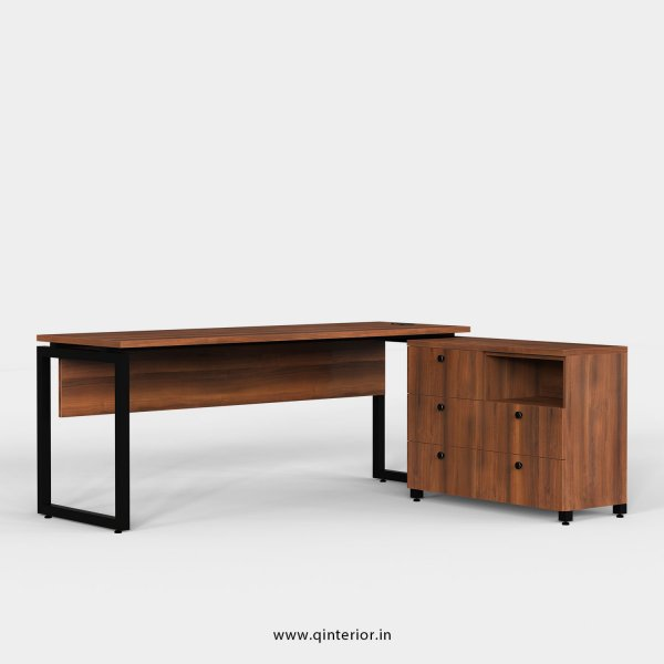 Aaron Executive Table in Teak Finish - OET107 C3