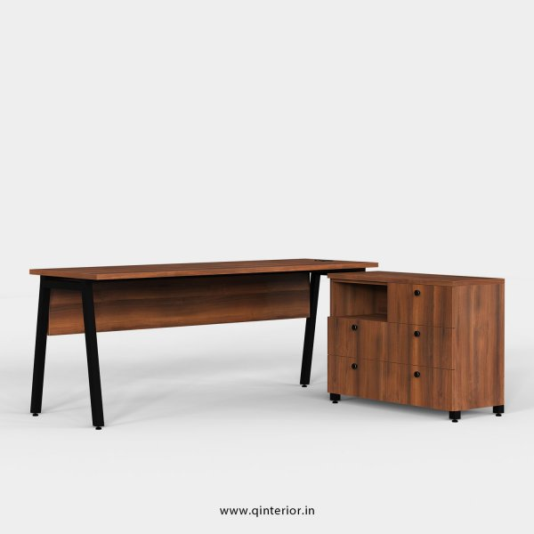Berg Executive Table in Teak Finish - OET108 C3