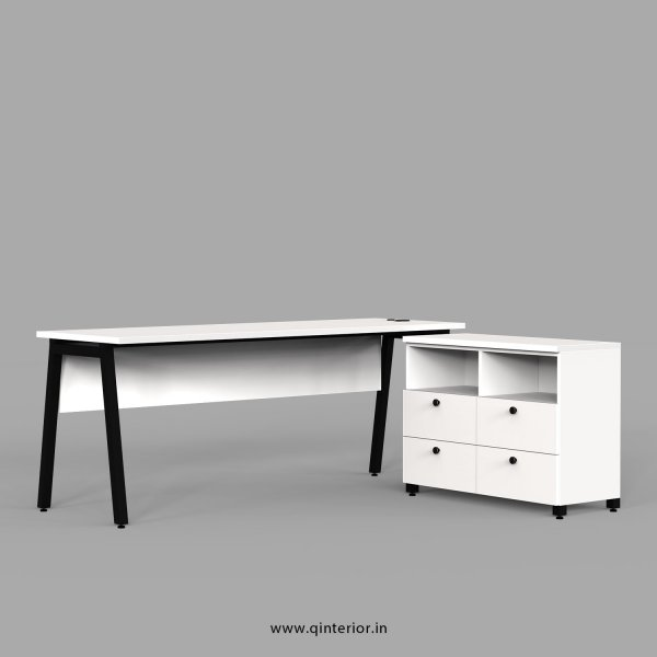 Berg Executive Table in White Finish - OET109 C4