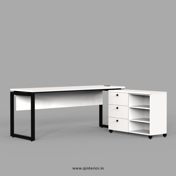 Aaron Executive Table in White Finish - OET111 C4