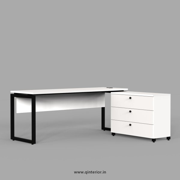 Aaron Executive Table in White Finish - OET103 C4