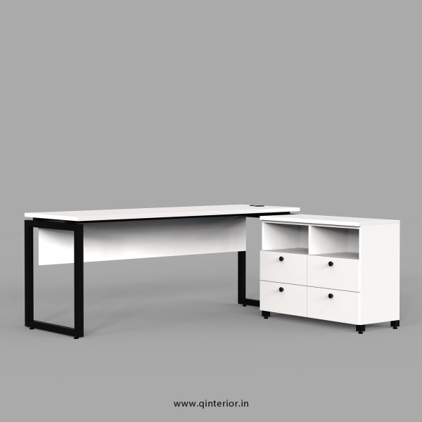 Aaron Executive Table in White Finish - OET109 C4