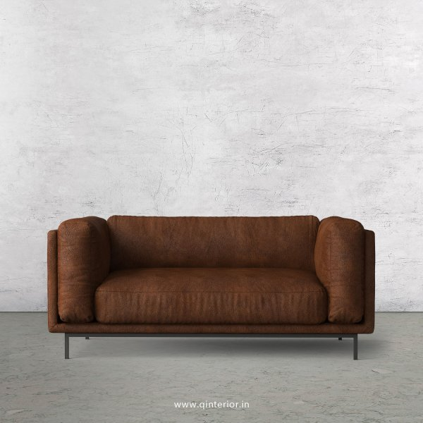 Estro 2 Seater Sofa in Fab Leather Fabric - SFA007 FL09