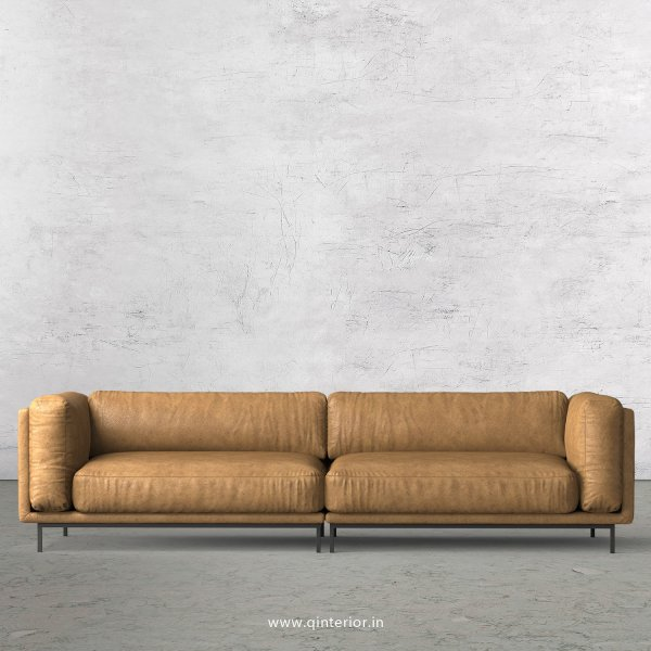Estro 4 Seater Sofa in Fab Leather Fabric - SFA007 FL02
