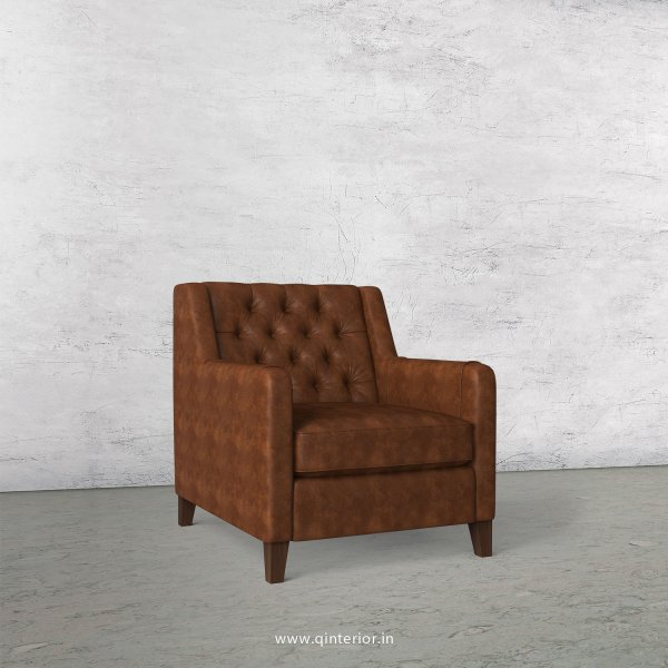 Eligence 1 Seater Sofa in Fab Leather Fabric - SFA011 FL09