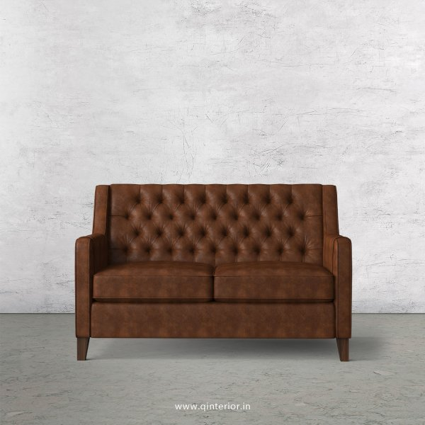 Eligence 2 Seater Sofa in Fab Leather Fabric - SFA011 FL09