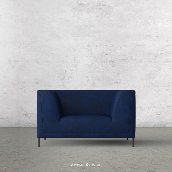 LUXURA 1 Seater Sofa in Fab Leather Fabric - SFA017 FL13