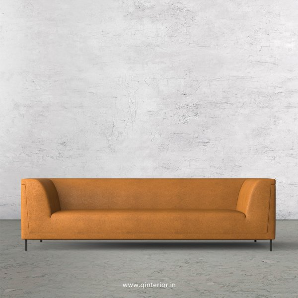 LUXURA 3 Seater Sofa in Fab Leather Fabric - SFA017 FL14