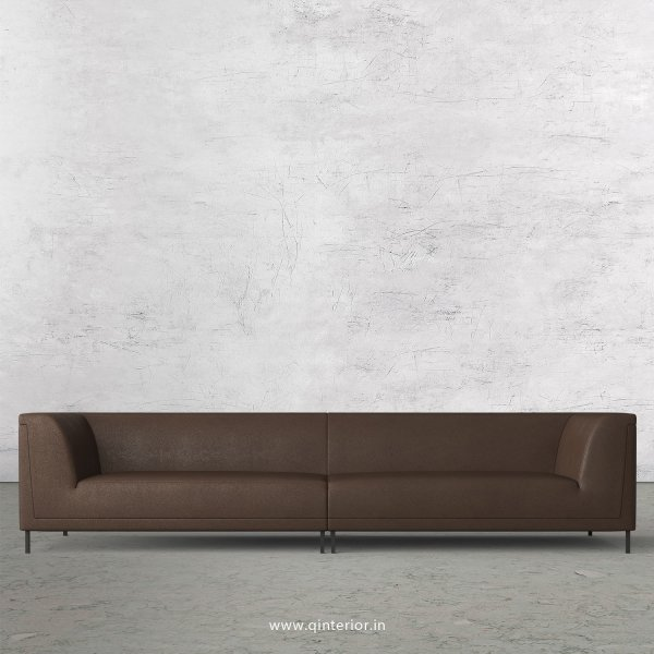 LUXURA 4 Seater Sofa in Fab Leather Fabric - SFA017 FL16
