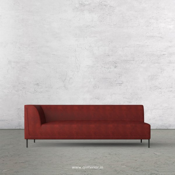 Luxura 3 Seater Modular Sofa in Fab Leather Fabric - MSFA003 FL17
