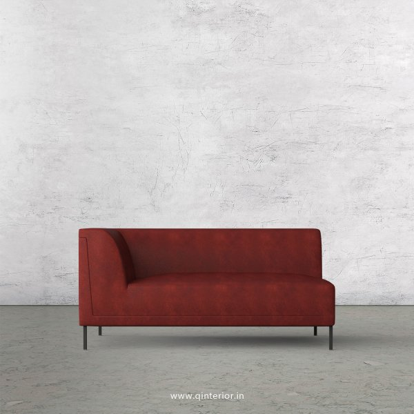 Luxura 2 Seater Modular Sofa in Fab Leather Fabric - MSFA002 FL17