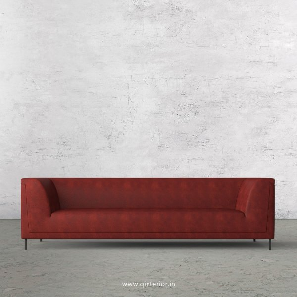 LUXURA 3 Seater Sofa in Fab Leather Fabric - SFA017 FL17