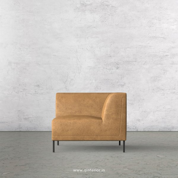 Luxura 1 Seater Modular Sofa in Fab Leather Fabric - MSFA004 FL02