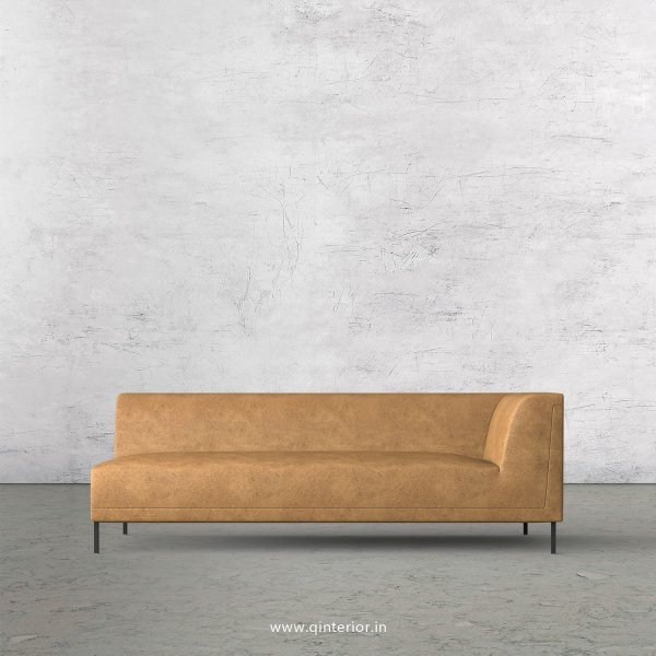 Luxura 3 Seater Modular Sofa in Fab Leather Fabric - MSFA006 FL02