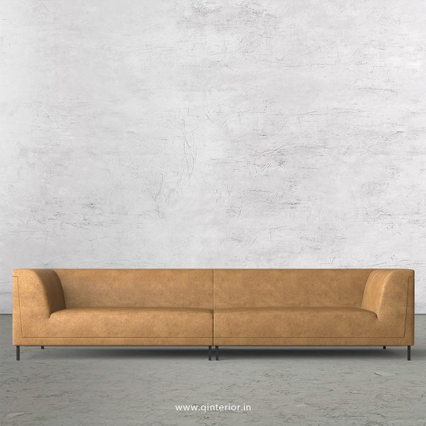 LUXURA 4 Seater Sofa in Fab Leather Fabric - SFA017 FL02