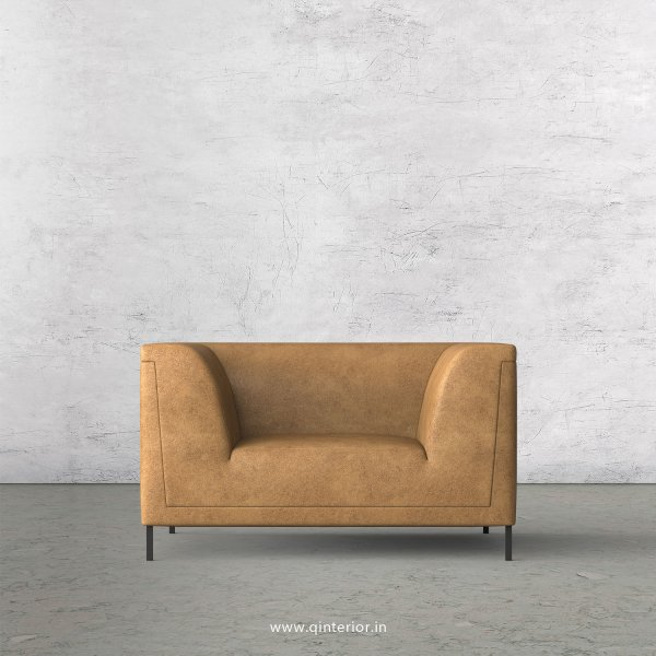 LUXURA 1 Seater Sofa in Fab Leather Fabric - SFA017 FL02