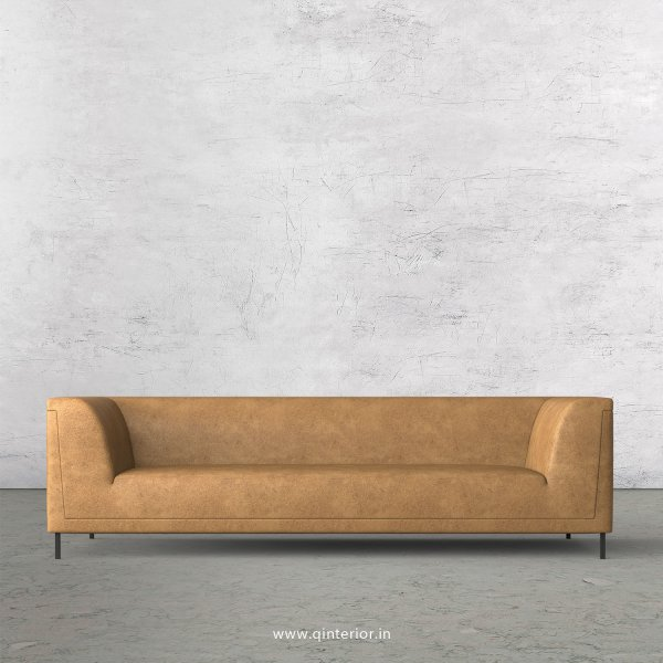 LUXURA 3 Seater Sofa in Fab Leather Fabric - SFA017 FL02