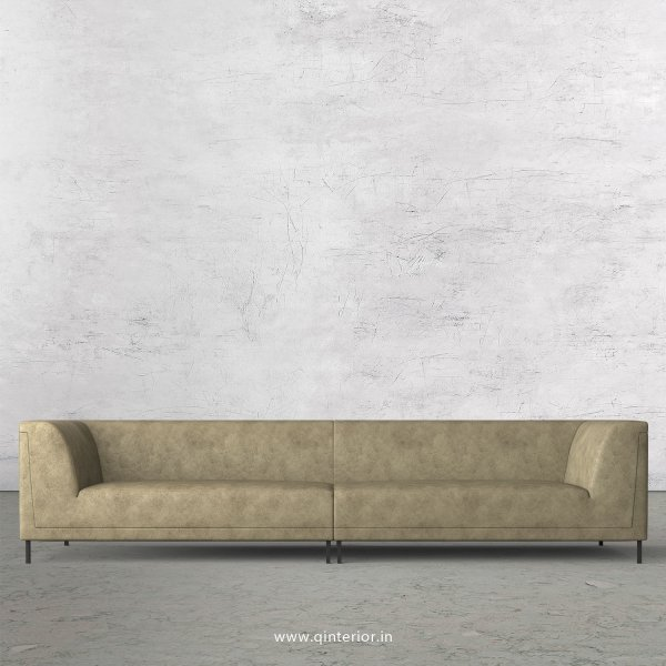 LUXURA 4 Seater Sofa in Fab Leather Fabric - SFA017 FL03