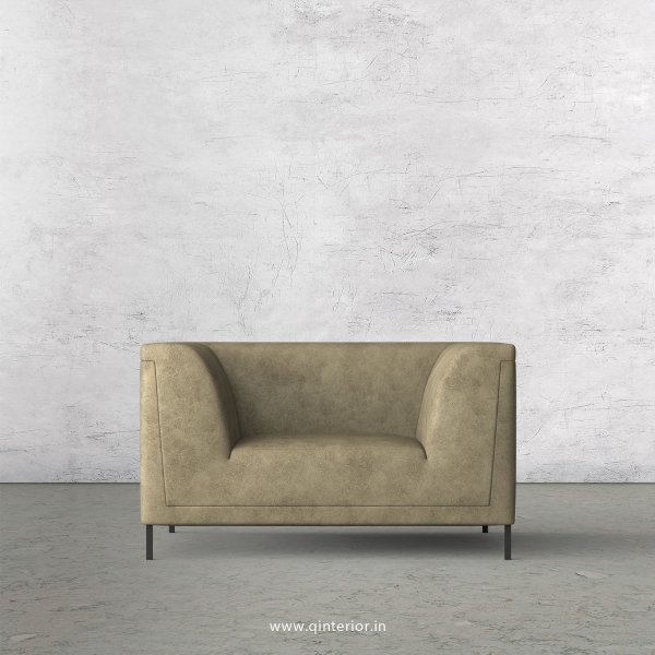LUXURA 1 Seater Sofa in Fab Leather Fabric - SFA017 FL03