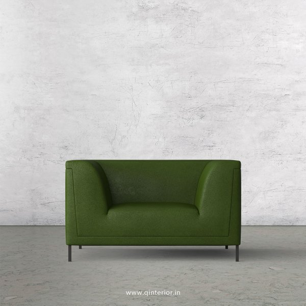 LUXURA 1 Seater Sofa in Fab Leather Fabric - SFA017 FL04