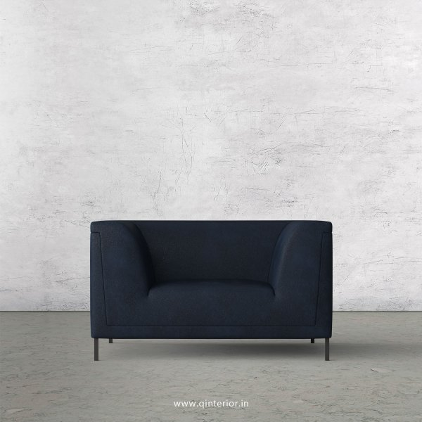 LUXURA 1 Seater Sofa in Fab Leather Fabric - SFA017 FL05