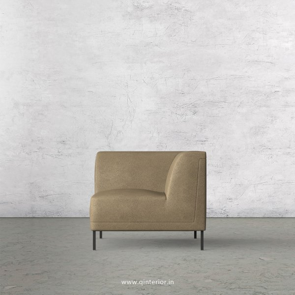 Luxura 1 Seater Modular Sofa in Fab Leather Fabric - MSFA004 FL06