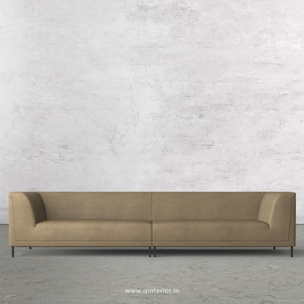 LUXURA 4 Seater Sofa in Fab Leather Fabric - SFA017 FL06