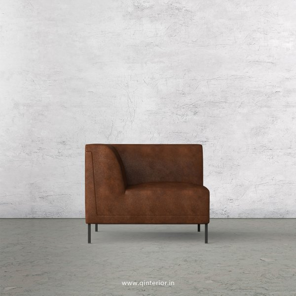 Luxura 1 Seater Modular Sofa in Fab Leather Fabric - MSFA001 FL09