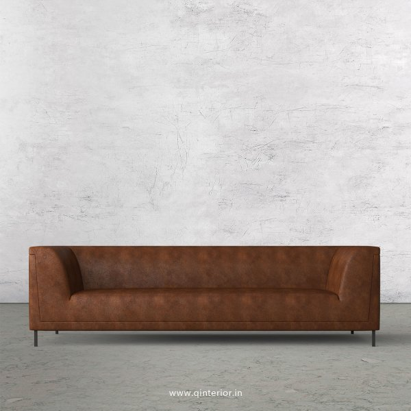 LUXURA 3 Seater Sofa in Fab Leather Fabric - SFA017 FL09