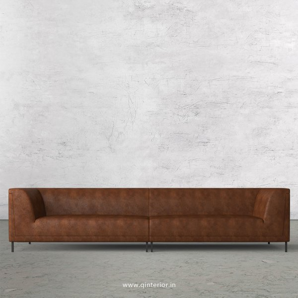 LUXURA 4 Seater Sofa in Fab Leather Fabric - SFA017 FL09