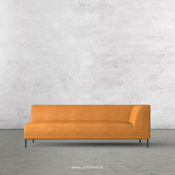 Luxura 3 Seater Modular Sofa in Fab Leather Fabric - MSFA006 FL14