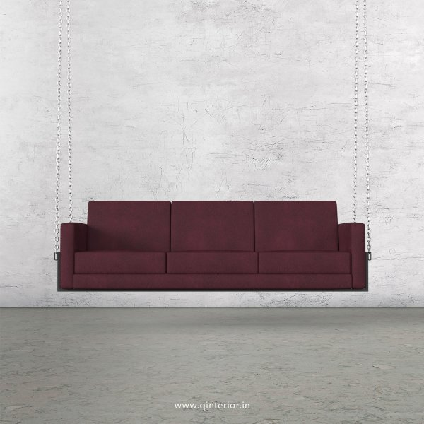 NIRVANA 3 Seater Swing Sofa in Fab Leather Fabric - SSF001 FL12