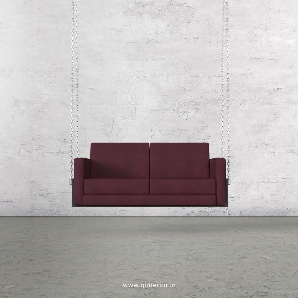 NIRVANA 2 Seater Swing Sofa in Fab Leather Fabric - SSF001 FL12