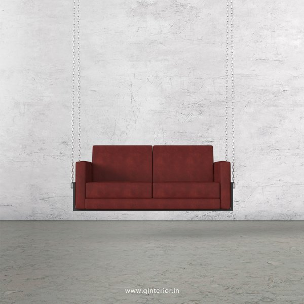 NIRVANA 2 Seater Swing Sofa in Fab Leather Fabric - SSF001 FL17
