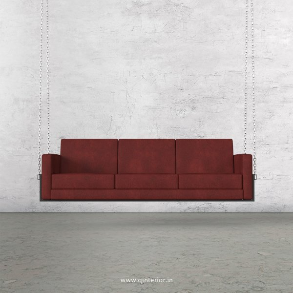 NIRVANA 3 Seater Swing Sofa in Fab Leather Fabric - SSF001 FL17