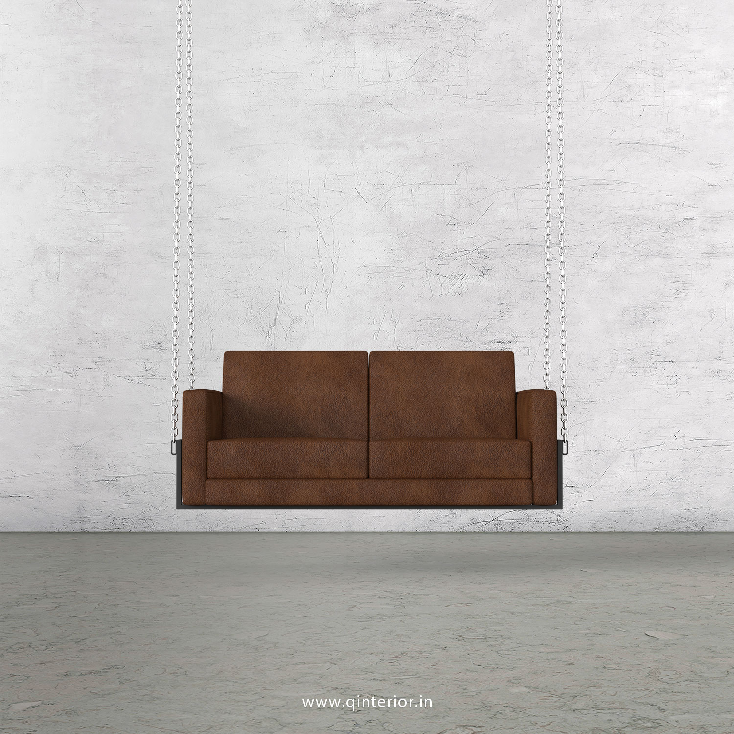 NIRVANA 2 Seater Swing Sofa in Fab Leather Fabric - SSF001 FL09